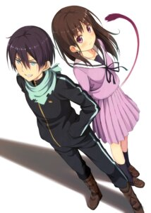 Rating: Safe Score: 35 Tags: iki_hiyori kinta_(distortion) noragami seifuku tail yato User: 椎名深夏