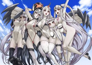 Rating: Questionable Score: 124 Tags: aircraft_carrier_hime aircraft_carrier_water_oni battleship-symbiotic_hime bikini breasts cameltoe erect_nipples esuo heels horns kantai_collection loli nipple_slip nipples northern_ocean_hime seaport_hime sling_bikini swimsuits thighhighs wardrobe_malfunction User: Humanpinka
