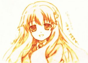 Rating: Safe Score: 5 Tags: baka_to_test_to_shoukanjuu godees himeji_mizuki monochrome User: charunetra