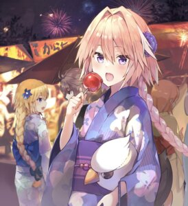 Rating: Questionable Score: 14 Tags: astolfo_(fate) fate/grand_order jeanne_d'arc jeanne_d'arc_(fate) kusumoto_touka trap yukata User: sym455