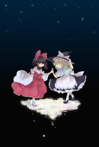 Rating: Safe Score: 3 Tags: hakurei_reimu kirisame_marisa popri touhou User: Radioactive