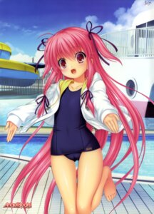 Rating: Questionable Score: 73 Tags: angel_beats! cameltoe key na-ga open_shirt school_swimsuit swimsuits yui_(angel_beats!) User: DDD