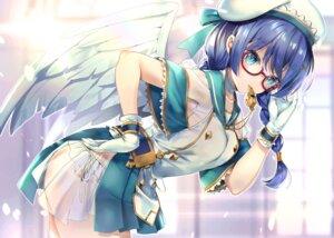 Rating: Safe Score: 28 Tags: hane_yuki megane see_through skirt_lift tagme wings User: Mr_GT