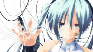 Rating: Safe Score: 24 Tags: hatsune_miku miku_append vocaloid wallpaper yukizuki_kei_(yossa) User: 23yAyuMe