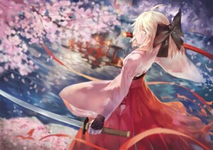 Rating: Safe Score: 47 Tags: avamone fate/grand_order japanese_clothes sakura_saber sword User: Noodoll