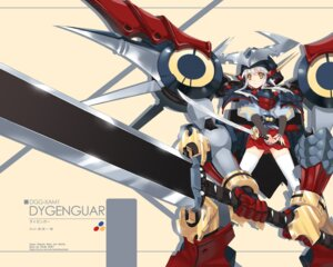 Rating: Safe Score: 20 Tags: achunchun armor mecha_musume super_robot_wars sword thighhighs wallpaper User: Nekotsúh