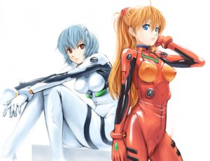 Rating: Questionable Score: 46 Tags: ayanami_rei bodysuit cameltoe erect_nipples neon_genesis_evangelion souryuu_asuka_langley undercover_brothers User: charunetra