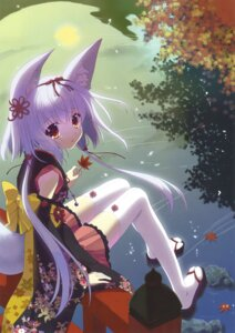 Rating: Questionable Score: 36 Tags: animal_ears japanese_clothes nanao_naru tagme tail thighhighs User: Twinsenzw