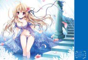 Rating: Questionable Score: 81 Tags: cleavage dress karory pantsu skirt_lift wet User: Twinsenzw