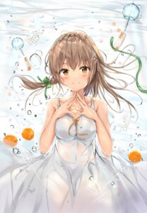Rating: Questionable Score: 69 Tags: bra breast_hold cleavage dress na_kyo see_through summer_dress wet_clothes User: yanis