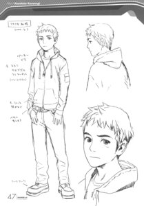 Rating: Safe Score: 6 Tags: character_design kusanagi_kunihito male monochrome range_murata shangri-la sketch User: Share