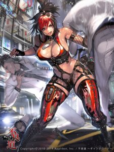 Rating: Safe Score: 41 Tags: bandaid blood cleavage fishnets furyou_michi_~gang_road~ heels hyulla stockings thighhighs User: mash