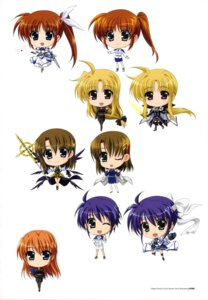 Rating: Safe Score: 14 Tags: chibi dress fate_testarossa higa_yukari mahou_senki_lyrical_nanoha_force mahou_shoujo_lyrical_nanoha pantyhose subaru_nakajima sword takamachi_nanoha teana_lanster thighhighs uniform weapon wings yagami_hayate User: Radioactive
