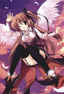 Rating: Safe Score: 29 Tags: lolita_fashion mitha pantsu thighhighs wings User: petopeto