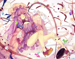 Rating: Safe Score: 37 Tags: cleavage daimaou_ruaeru dress heels patchouli_knowledge touhou User: Mr_GT
