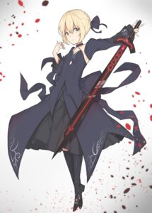 Rating: Safe Score: 36 Tags: cleavage dress emushake fate/grand_order saber saber_alter sword User: nphuongsun93