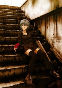 Rating: Safe Score: 46 Tags: ayanami_rei heiyuen neon_genesis_evangelion thighhighs User: Dark_Person