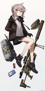 Rating: Questionable Score: 9 Tags: astg girls_frontline gun m200_(girls_frontline) seifuku skirt_lift User: Dreista