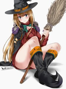 Rating: Questionable Score: 55 Tags: amudora breast_hold halloween signed sweater witch User: mash