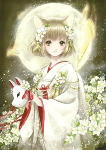 Rating: Safe Score: 22 Tags: animal_ears japanese_clothes shiitake User: Twinsenzw