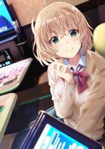 Rating: Safe Score: 27 Tags: breast_hold seifuku shiokazunoko sweater User: hiroimo2