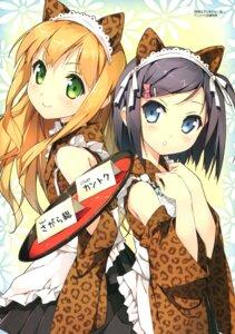 Rating: Safe Score: 68 Tags: animal_ears azuki_azusa hentai_ouji_to_warawanai_neko kantoku maid nekomimi tsutsukakushi_tsukiko wa_maid User: Twinsenzw
