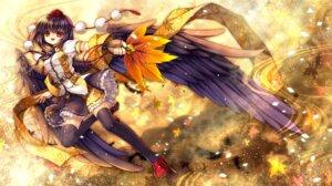 Rating: Safe Score: 26 Tags: capura.l shameimaru_aya thighhighs touhou wings User: fairyren