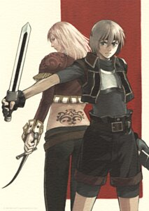 Rating: Safe Score: 3 Tags: bike_shorts kawano_junko kika lazlo_en_kuldes suikoden suikoden_iv sword User: Radioactive