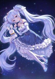 Rating: Safe Score: 12 Tags: cleavage dress foreign_blue hatsune_miku heels vocaloid yuki_miku User: Mr_GT