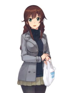 Rating: Safe Score: 55 Tags: kantai_collection konishi noshiro_(kancolle) pantyhose sweater User: sinzo