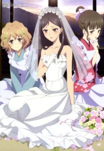 Rating: Safe Score: 49 Tags: amano_kazuko dress hanasaku_iroha matsumae_ohana oshimizu_nako tsurugi_minko wedding_dress User: Elow69