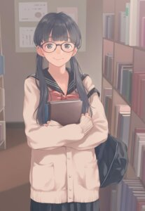 Rating: Safe Score: 59 Tags: kamo megane seifuku sweater User: saemonnokami