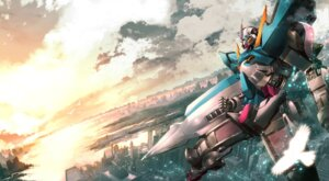 Rating: Safe Score: 16 Tags: gundam gundam_00 gundam_exia keiji_asakawa landscape mecha User: Radioactive