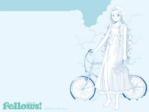 Rating: Safe Score: 5 Tags: dress fellows! monochrome wallpaper yamana_sawako User: DrizztVII