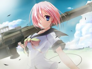 Rating: Safe Score: 21 Tags: game_cg gun seifuku sparkle!! t-ray User: blooregardo