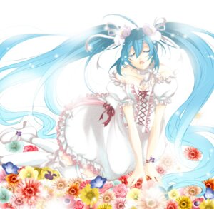Rating: Safe Score: 17 Tags: cleavage dress eien_no_shoujo hatsune_miku vocaloid User: charunetra