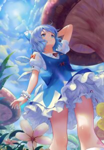 Rating: Safe Score: 29 Tags: bloomers cirno dress possible_duplicate skirt_lift sonikey touhou wings User: charunetra