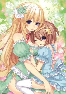 Rating: Safe Score: 82 Tags: blanc choujigen_game_neptune dress thighhighs tsunako vert User: blooregardo