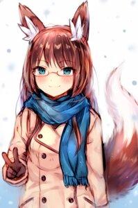 Rating: Safe Score: 33 Tags: animal_ears kitsune megane sukemyon tail User: Mr_GT
