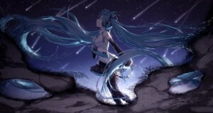Rating: Safe Score: 54 Tags: hatsune_miku headphones lengchan tattoo thighhighs vocaloid User: nphuongsun93