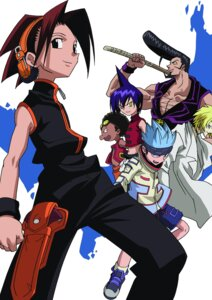 Rating: Safe Score: 3 Tags: asakura_yoh chocolove_mcdonell johann_faust_viii male open_shirt shaman_king sword takami_akio tao_ren umemiya_ryunosuke usui_horokeu User: Radioactive