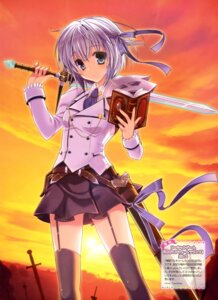 Rating: Safe Score: 42 Tags: kawai_maria seifuku stockings sword thighhighs User: drop