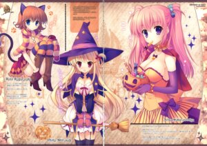 Rating: Safe Score: 49 Tags: animal_ears cleavage fixme gap halloween indico_lite kagurazaka_koto mitha nanagane_educational_institution nekomimi sakuranomiya_arisa shirasagi_otoha stockings tail thighhighs witch User: fireattack