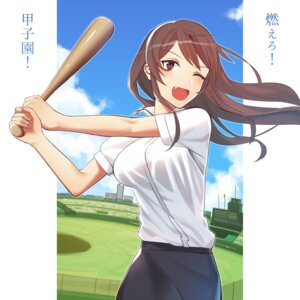 Rating: Safe Score: 11 Tags: ashigara_(kancolle) baseball kantai_collection kitazawa_(embers) User: mash