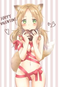 Rating: Questionable Score: 47 Tags: animal_ears kitsune naked_apron tagme tail valentine User: Mr_GT