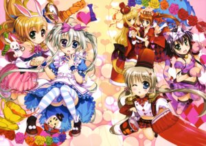 Rating: Questionable Score: 33 Tags: alice_in_wonderland animal_ears asteion bunny_ears cleavage corona_timir cosplay dress einhart_stratos fate_testarossa fujima_takuya heels heterochromia mahou_shoujo_lyrical_nanoha mahou_shoujo_lyrical_nanoha_vivid miura_rinaldi nekomimi pantsu rio_wezley sacred_heart tail takamachi_nanoha thighhighs vivio User: drop