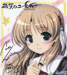 Rating: Safe Score: 30 Tags: aiyoku_no_eustia august autographed bekkankou fione_silvaria seifuku User: peoplo