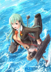 Rating: Safe Score: 22 Tags: kantai_collection kuromu seifuku suzuya_(kancolle) sweater thighhighs weapon User: Mr_GT