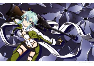 Rating: Safe Score: 38 Tags: cleavage gun gun_gale_online sinon sword_art_online thighhighs totosu User: drop