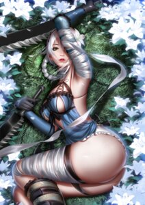 Rating: Questionable Score: 31 Tags: ass bandages garter kaine_(nier) liang_xing lingerie nier no_bra pantsu tagme thong weapon User: BattlequeenYume